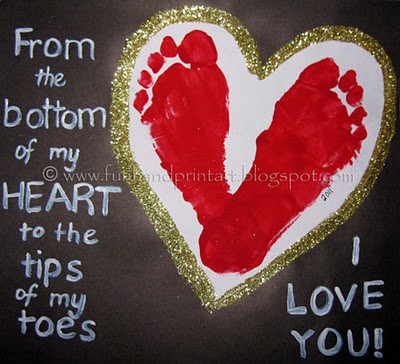 Footprint Heart with poem