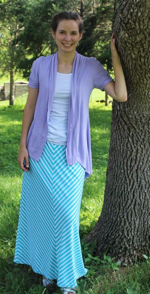 Striped Maxi Skirt-Modest Monday Link Up!
