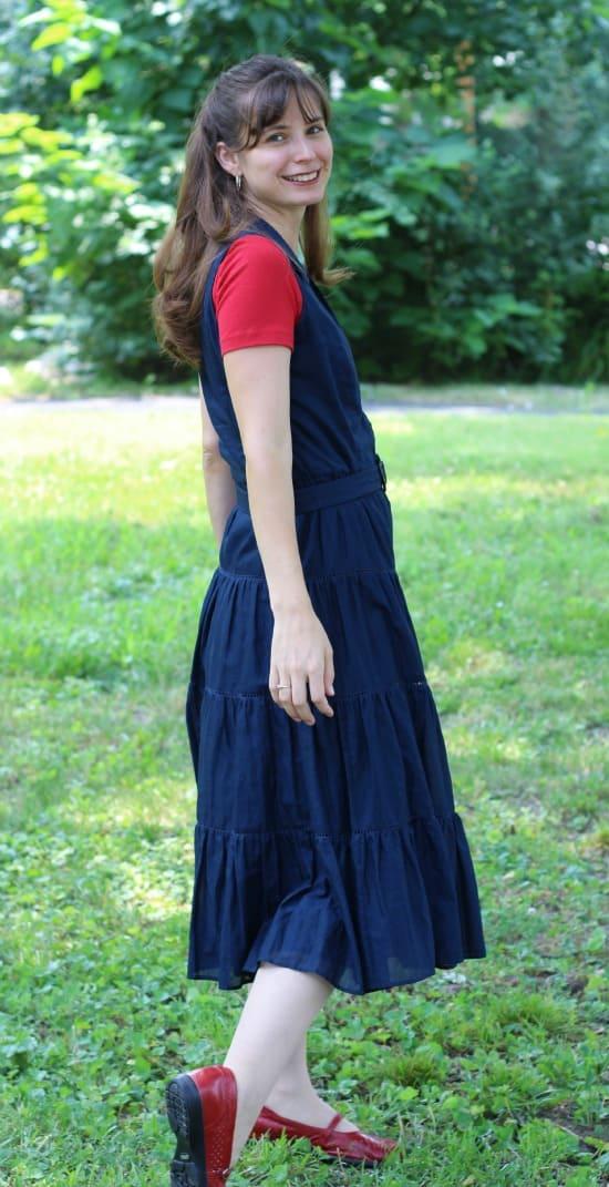 Blue Dress With Halftee