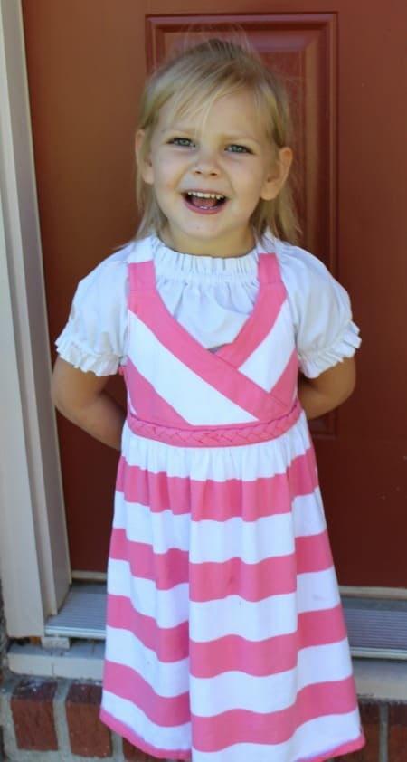 Pink and White Striped Dress