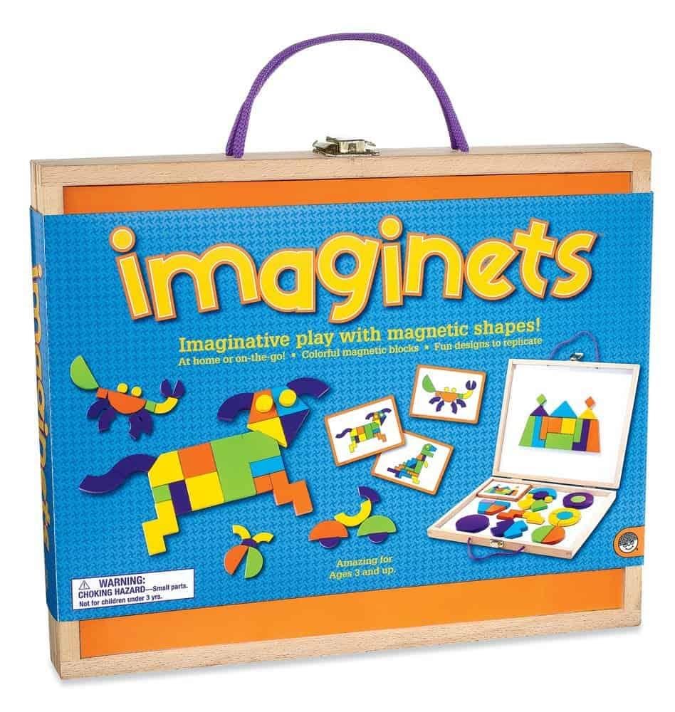 Imaginets Boost fine motor and visual thinking skills with these brightly-colored magnetic blocks and 50 full-color design challenges | themodestmomblog.com
