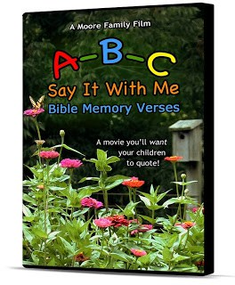 Moore Family Films - ABC Say It With Me Bible Memory Verses | themodestmomblog.com