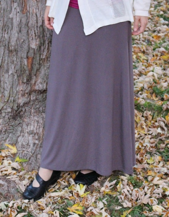 Grey maxi Skirt from Deborah and Co. Heavier knit fabric that is great for the winter months!