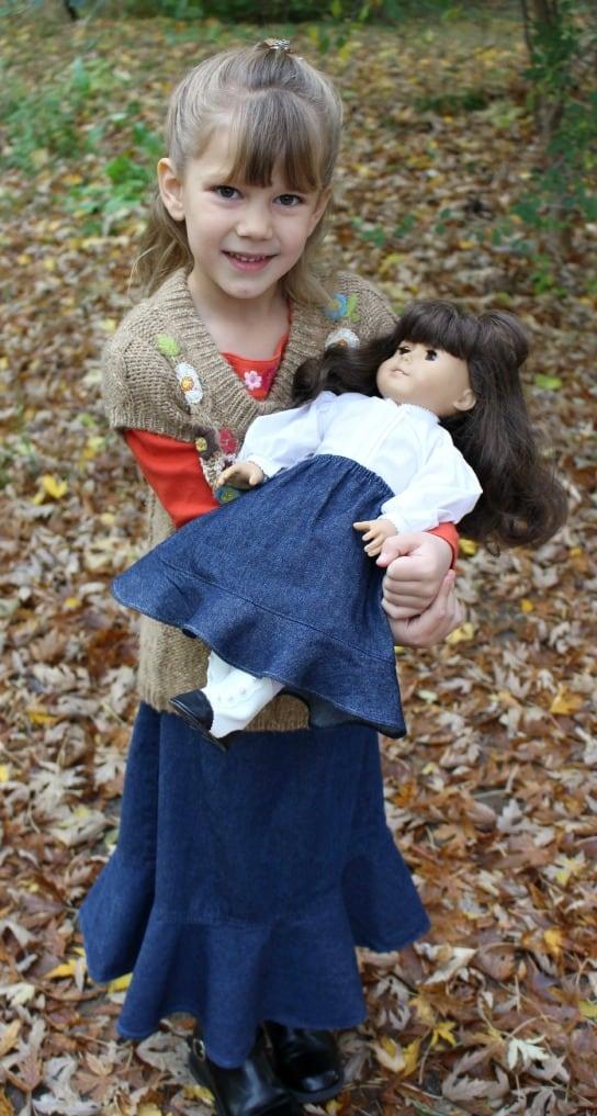 Matching Girl and Doll Ruffle Skirts!