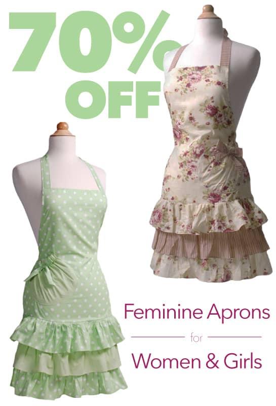 70 Percent of Feminine Aprons for Women and Girls! | themodestmomblog.com