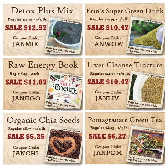 Sales at the Bulk Herb Store for January