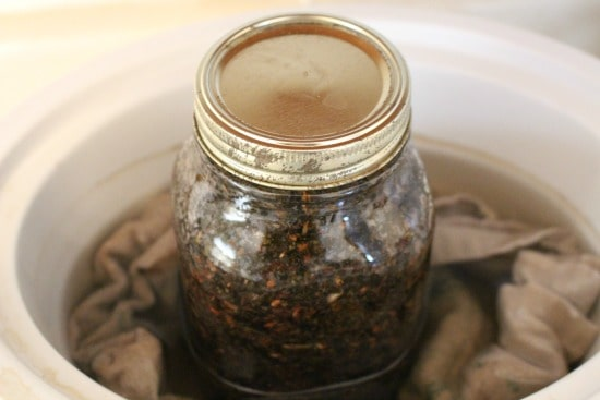Place herbs in crockpot | themodestmomblog.com
