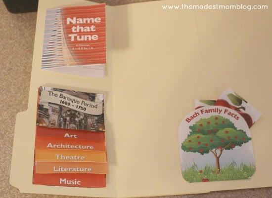 A Bach Lapbook! | themodestmomblog.com