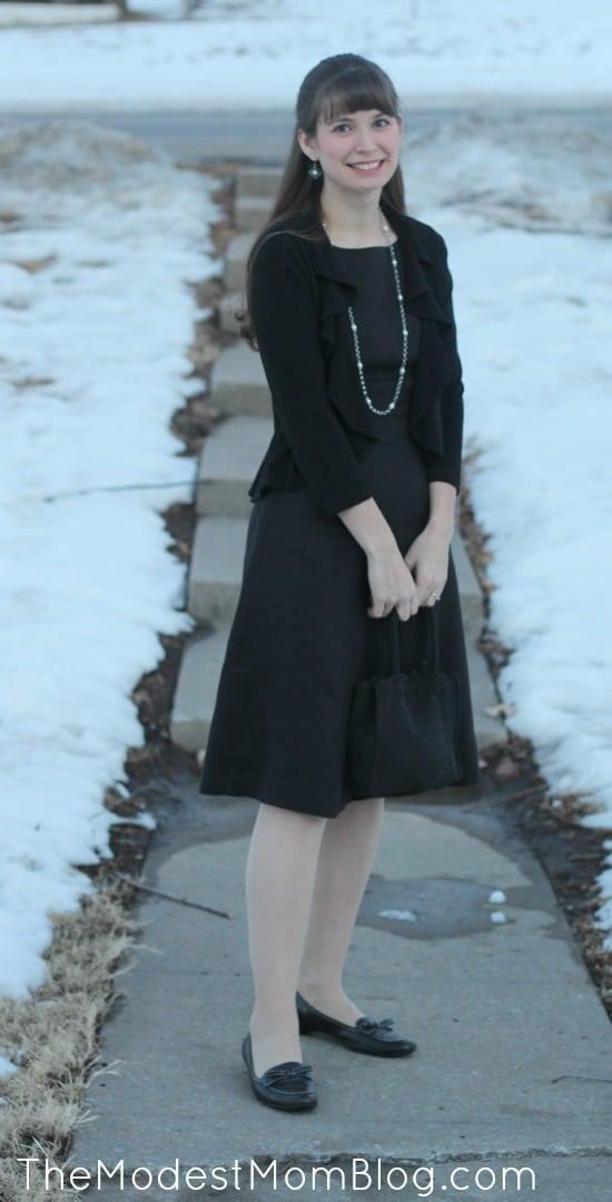 Black Formal Dress | themodestmomblog.com