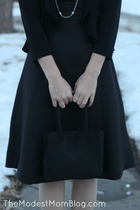 Black Purse for Formal Event | themodestmomblog.com