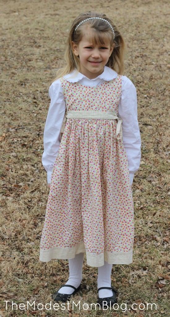 Modest Little Girl's Outfit | themodestmomblog.com