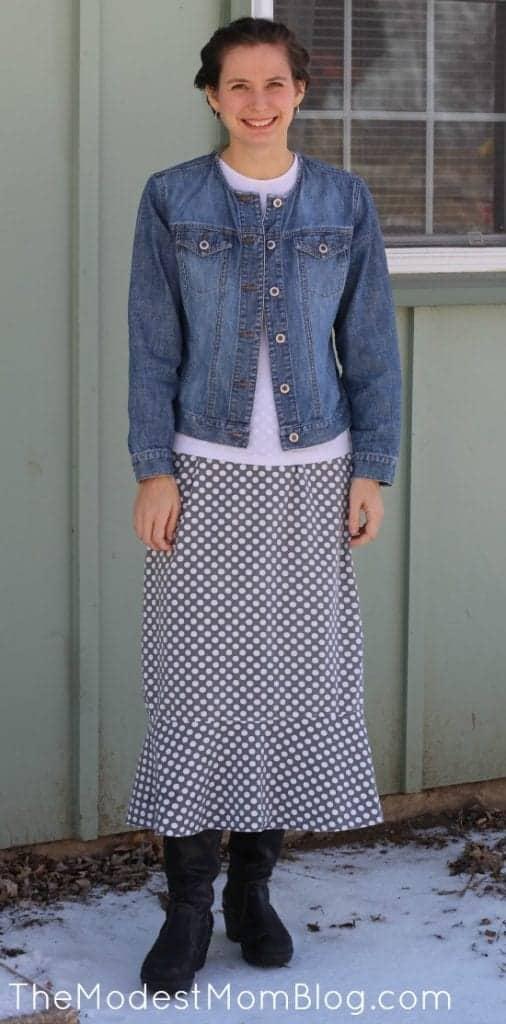 Modest Monday Polka Dot Skirt