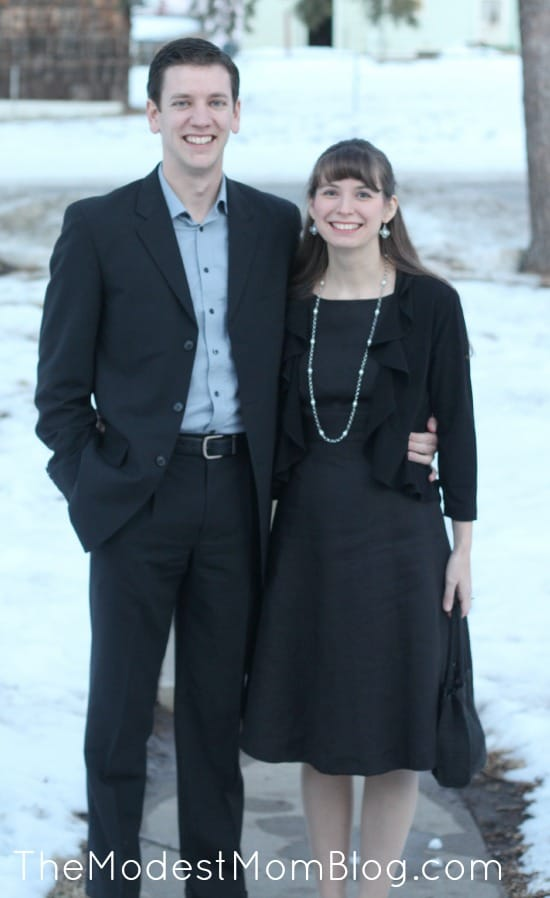 Going on a formal date together! | themodestmomblog.com