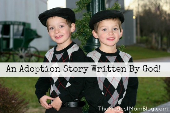 An Adoption Story Written By God!  | themodestmomblog.com