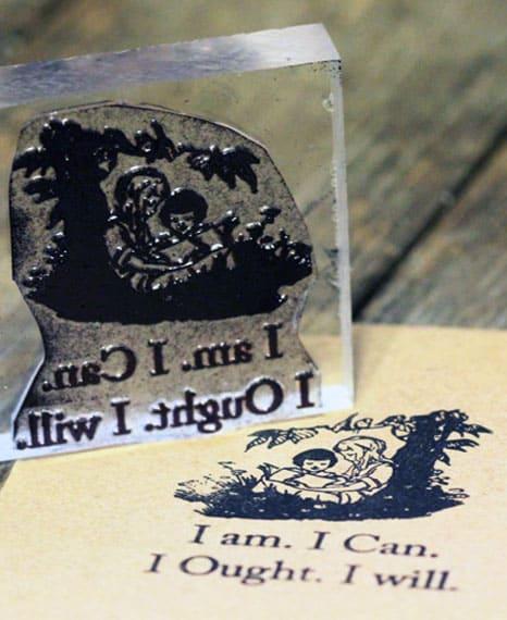 Charlotte Mason Rubber Stamp