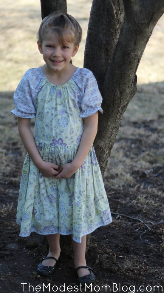 Peasant Style Dress for a sweet little girl! | themodestmomblog.com