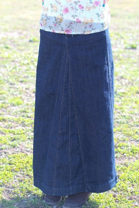 The Heather Denim Maxi Skirt | themodestmomblog.com