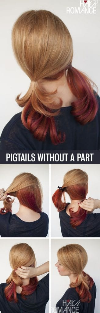 Pigtails without a part | themodestmomblog.com