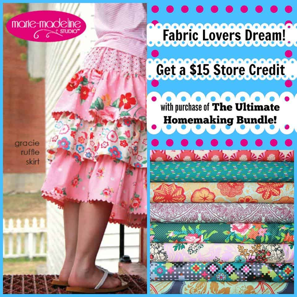 Get free fabric or put towards a cute skirt!