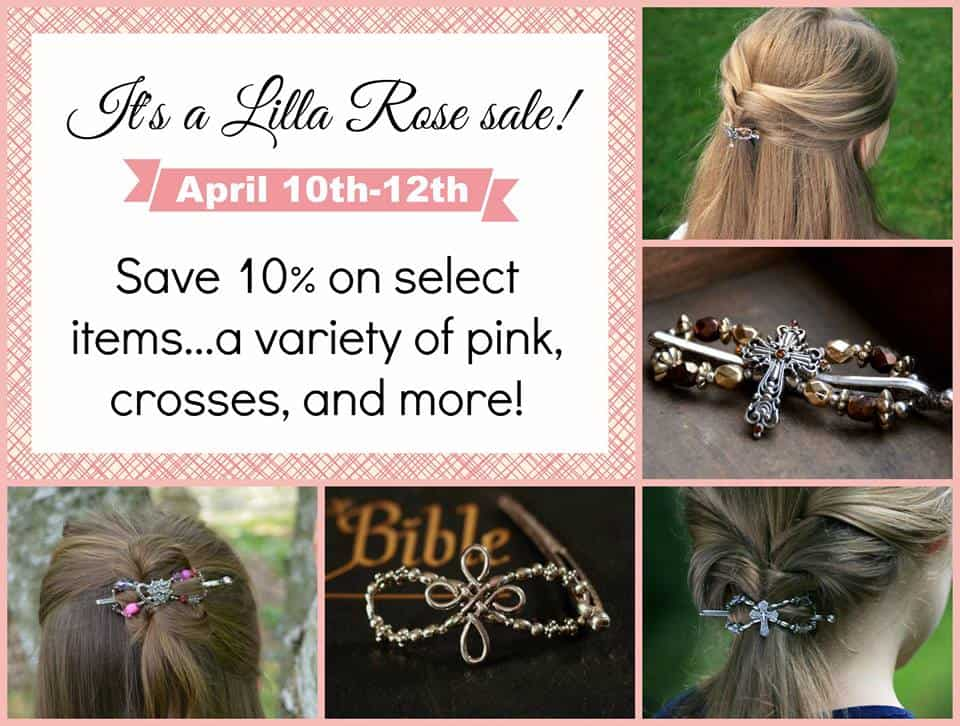 Save 10% off a variety of pink and cross style flexi clips from Lilla Rose!