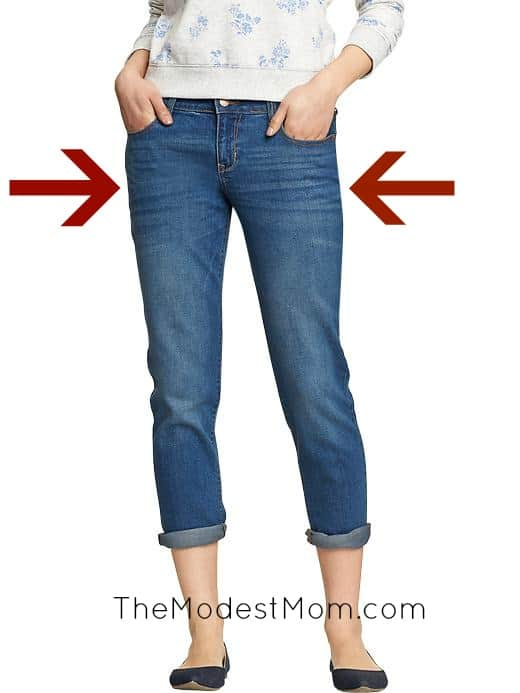Where do your eyes fall when you see a pair of jeans on a woman?