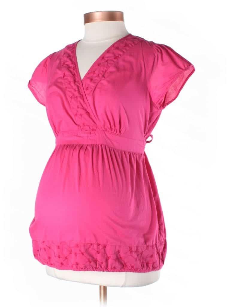 Pink Motherhood Maternity Top