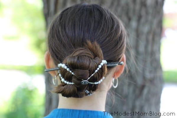 bun with mega flexi clip