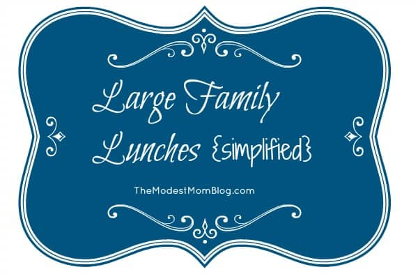 Large Family Lunches