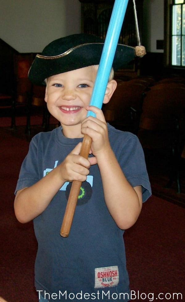 A boy and his toy gun!