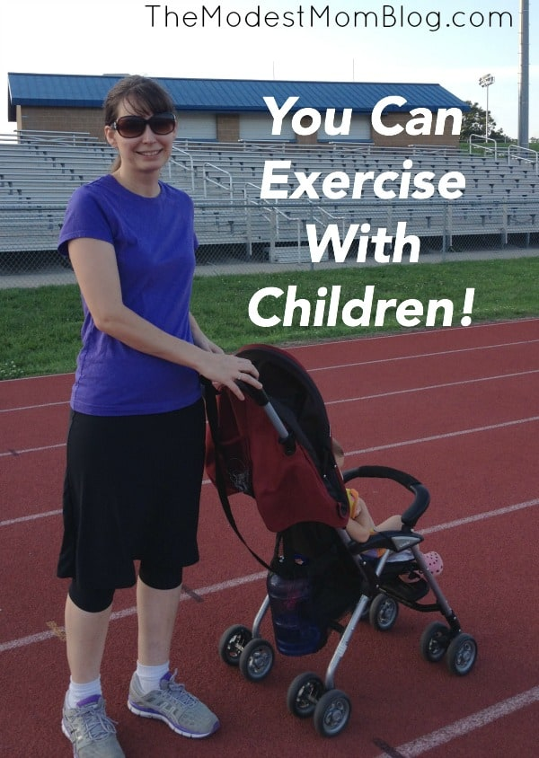 Yes You can Exercise With Children! My Six Week Journey Towards Better Health | themodestmomblog.com
