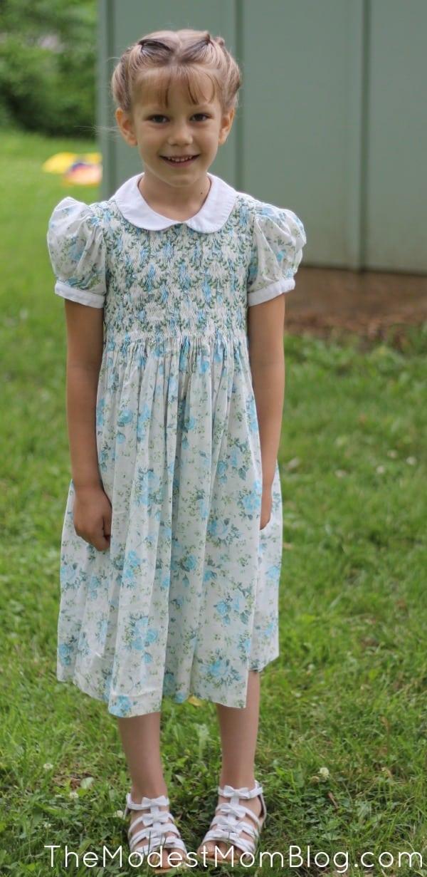 Modest Girl Dress! | themodestmomblog.com