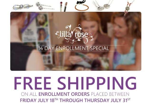 Free Shipping on all new enrollment kits with Lilla Rose!