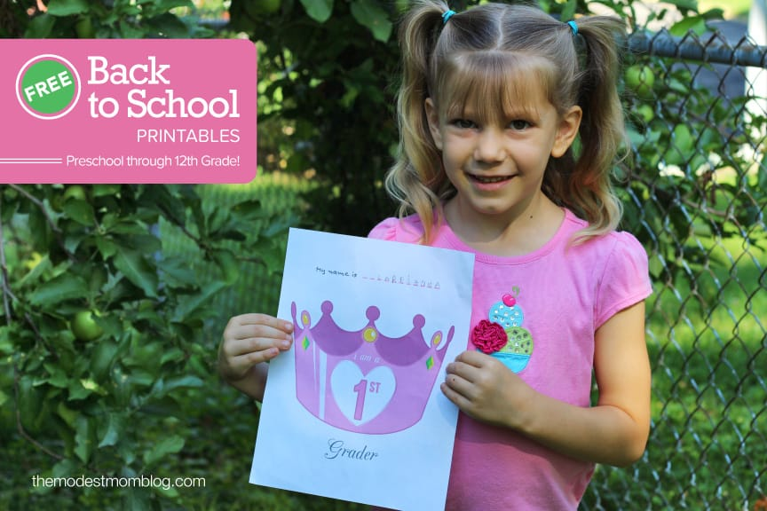 Princess Crowns are available for Preschool through seventh Grade!