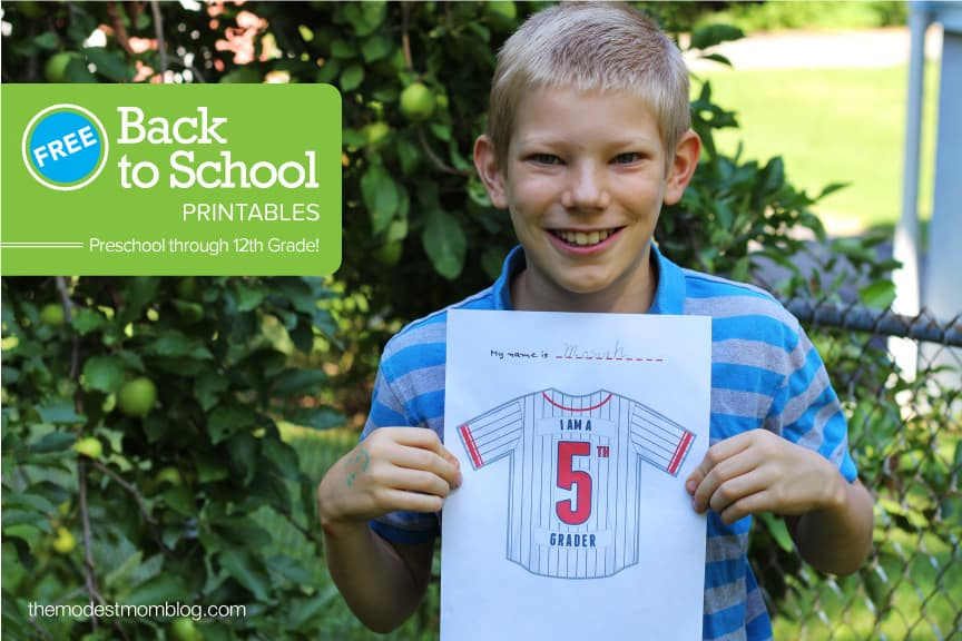 Fifth Grade Back To School Printables! Available for all grades!