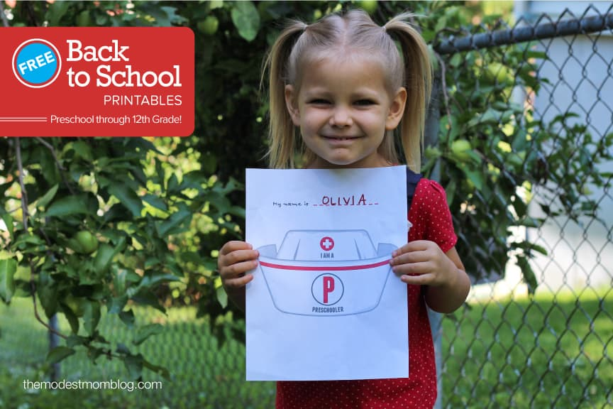 Preschool Back to School Freebie Signs!