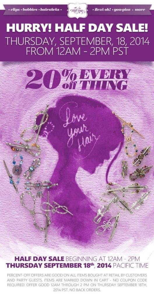 Twenty Percent off all Lilla Rose Items!!