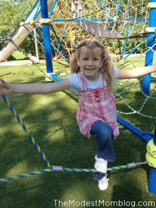 Fun at a new park near us!
