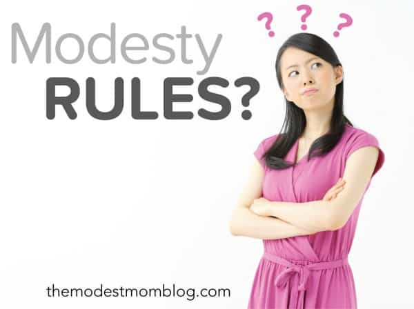 Modesty Rules? Should there be a hard fast set of rules for modesty? Click through to see!