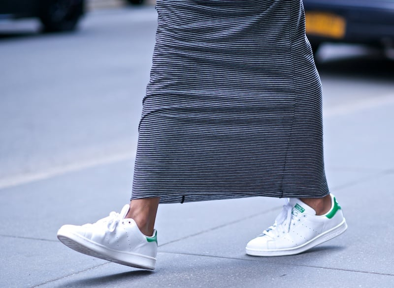 Comfortable Walking Shoes with a Skirt