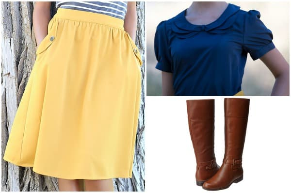Honey Skirt Outfit with Boots