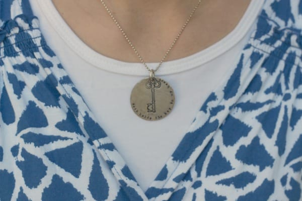 Key necklace from Vintage Pearl