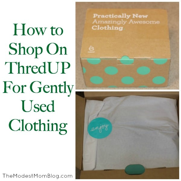 How to Shop On ThredUP for Gently Used Clothing!   themodestmomblog.com