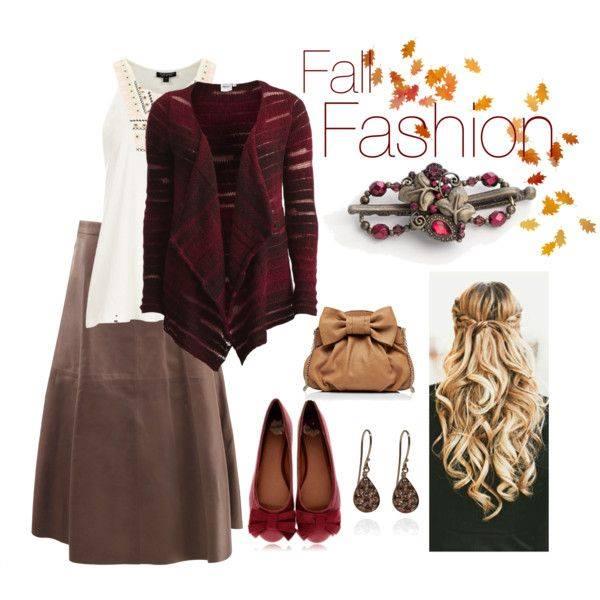 I love the deep rich colors in this outfit!