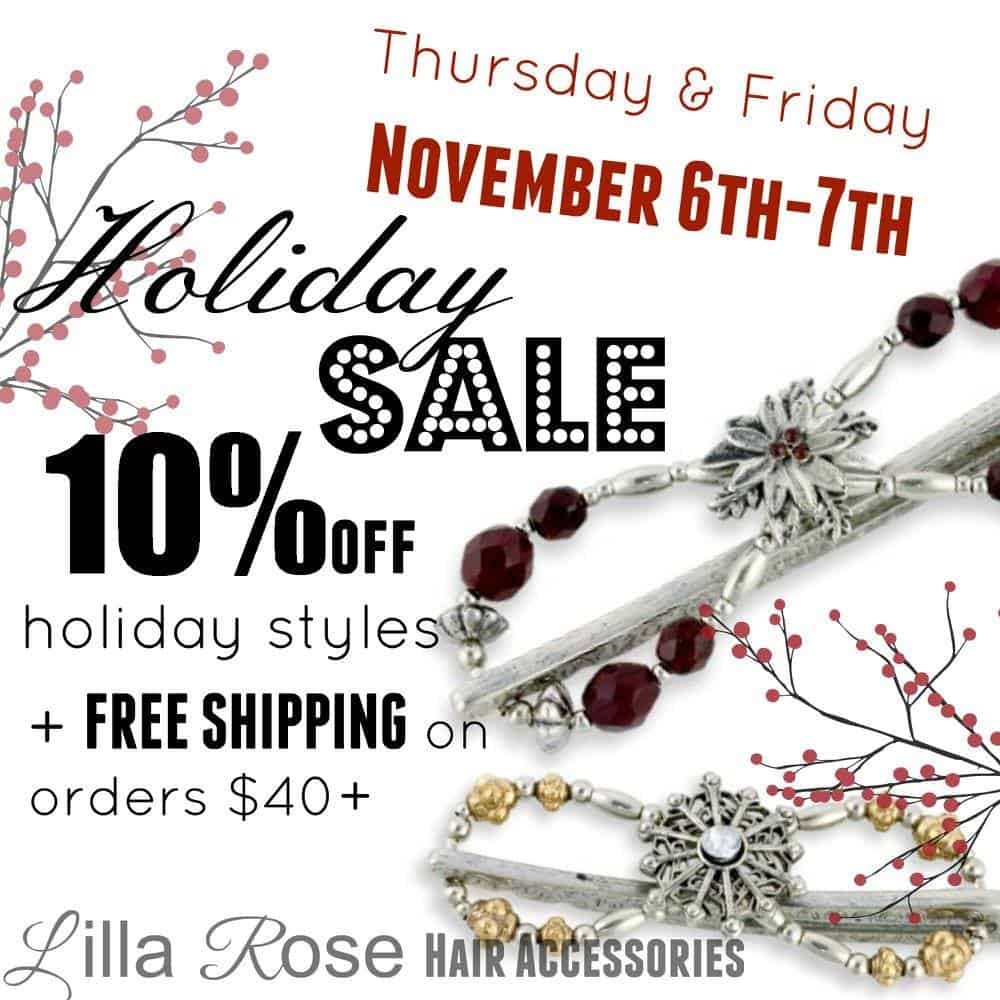 """Holiday Sale at Lilla Rose! 10% off when you search the word """"Holiday"""" on the website!"""