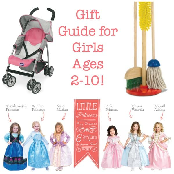 A gift guide for girls ages 2-10!