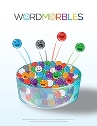 Word Marbles for Children. Encourage kind speech with this simple help!