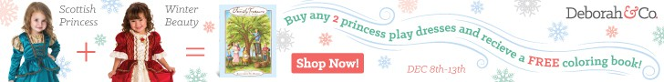 Buy two princess dresses and get a free coloring book!