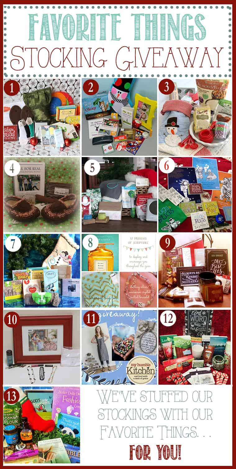 Come enter 12 different giveaways full of our favorite things as bloggers! Each stocking stuffer giveaway has been put together by each blogger to share with you!