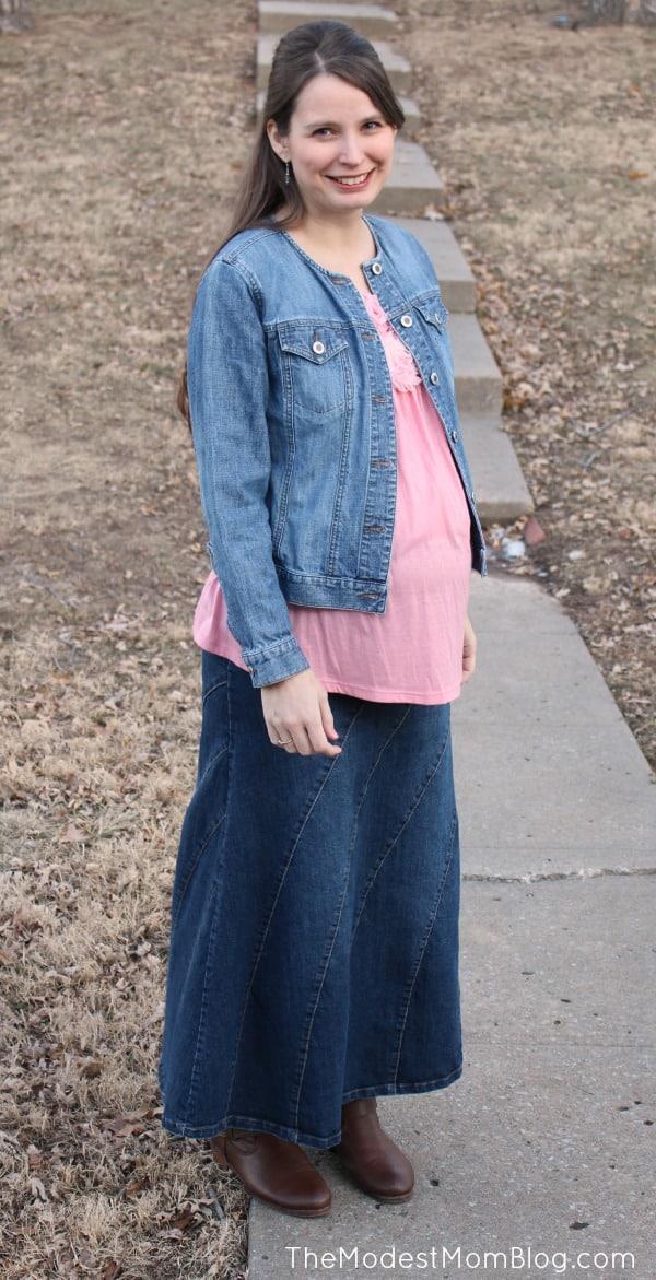 six ways to style a denim skirt