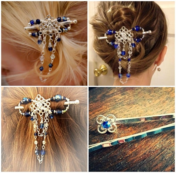 Available only in January or while supplies last! Sapphire Ice flexi and matching bobby pins!